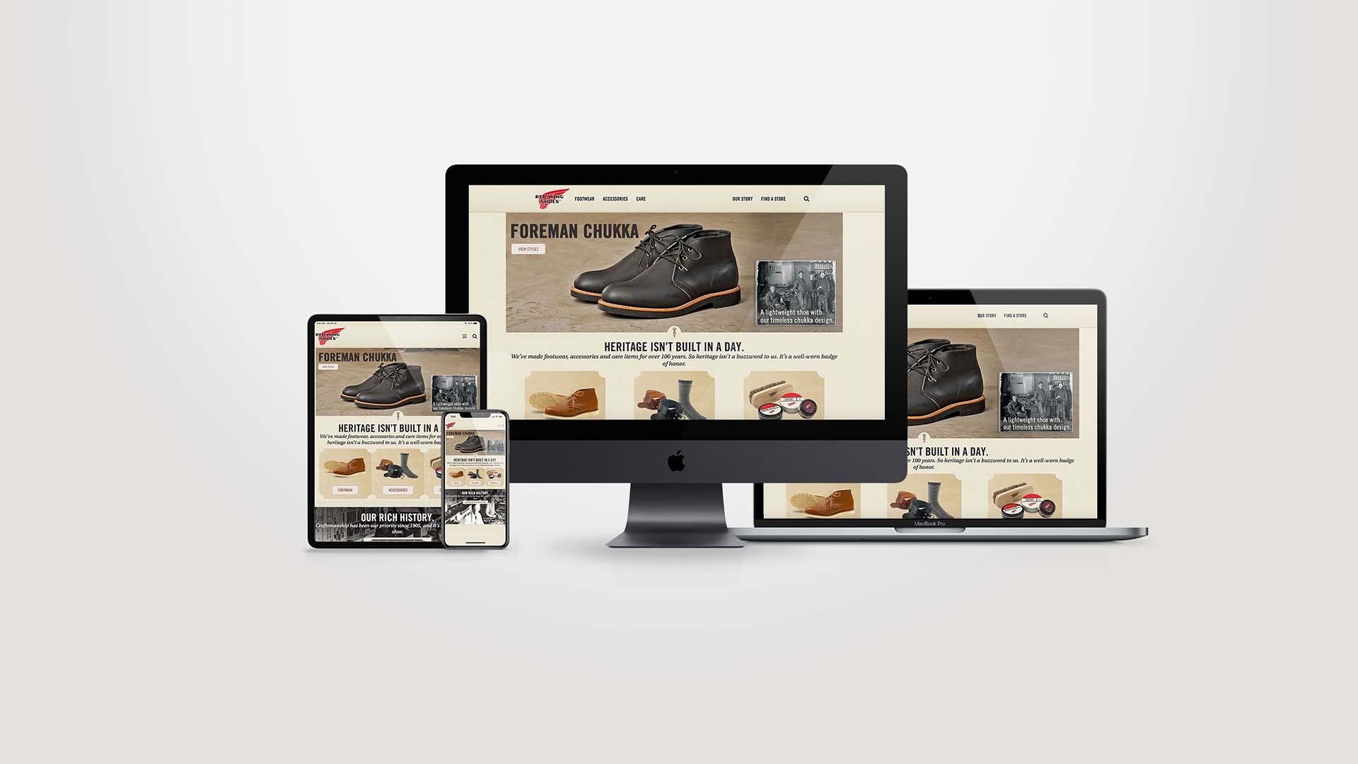 Pineapple Design Limited - Red Wing Shoes Website - Singapore & Thailand