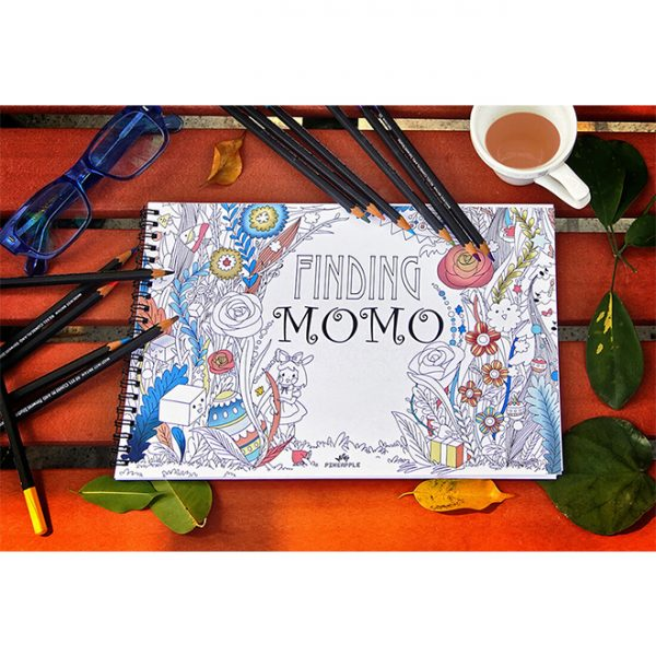 Pineapple Design Limited - Original Creation by Pineapple Design Limited - Finding Momo Colouring Book